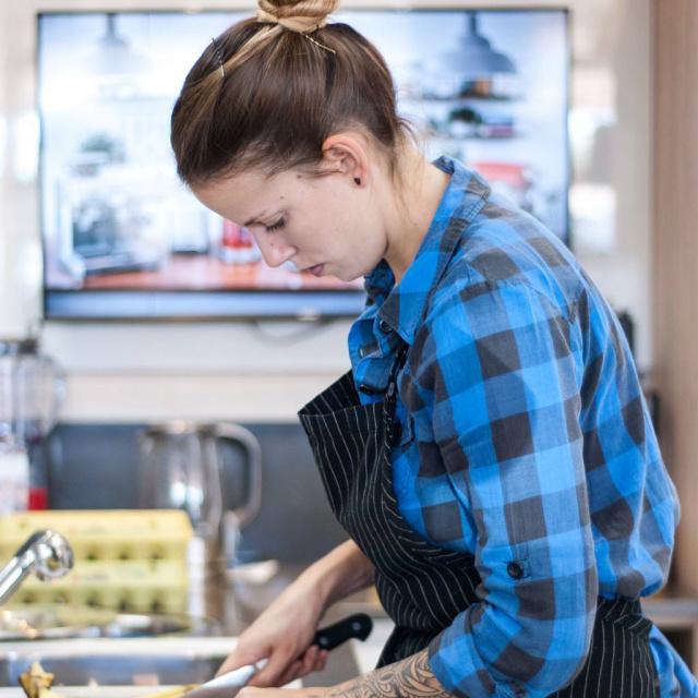 Recentemente a chef  lançou uma de suas receitas no cardápio de  um  restaurante em um bairro tradicional Italiano da cidade Californiana. - Crédito: Foto: Claudio Zaia