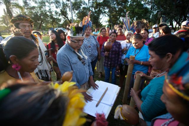 O documento de cinco páginas foi escrito durante encontro do Conselho do Aty Guasu, realizado nos dias 1 e 2 deste mês. - Crédito: Foto: Divulgação