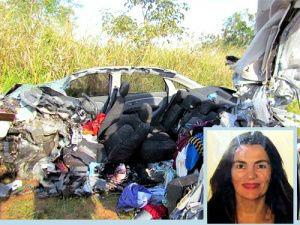 Wânia Cyrillo Stefano morreu após acidente na rodovia SP-595. - Crédito: Foto: Folha da Região