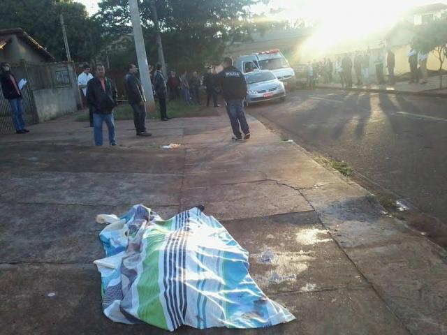 O crime ocorreu na tarde de ontem e a polícia investiga o caso. - Crédito: Foto: Cido Costa