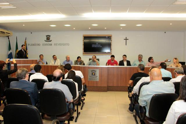 Representantes da sociedade organizada e do poder público participam de audiência pública sobre Plano Diretor em Campo Grande. - Crédito: Foto: Divulgação