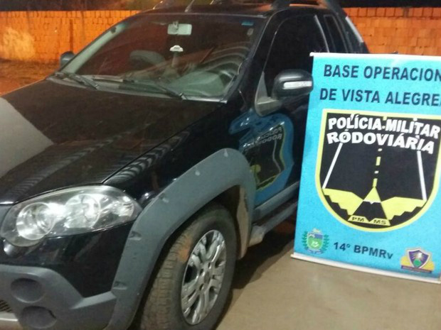 Picape furtada em Goiânia foi recuperada em Maracaju - Crédito: Foto: PMRE/ Divulgação