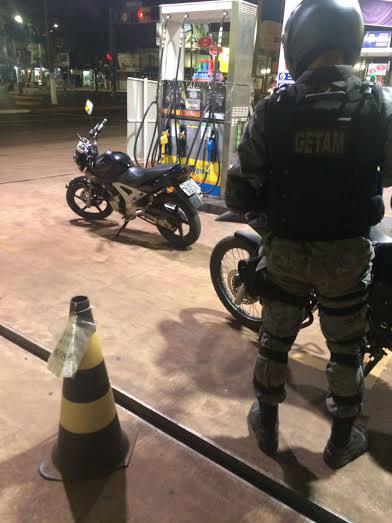 Moto foi recuperada pelo Getam -
