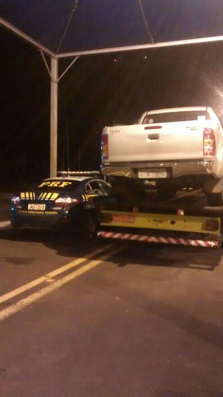 Caminhonete Toyota/Hilux tomada em assalto em Caarapó -
