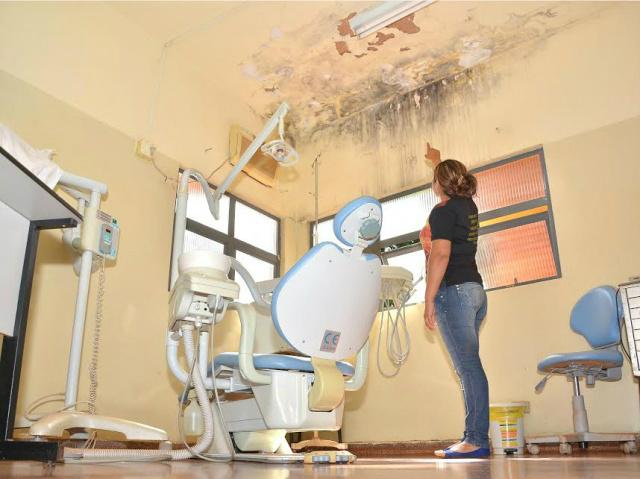 Posto de Saúde na Reserva impedia atendimentos odontológicos, mas está sendo reformado. -