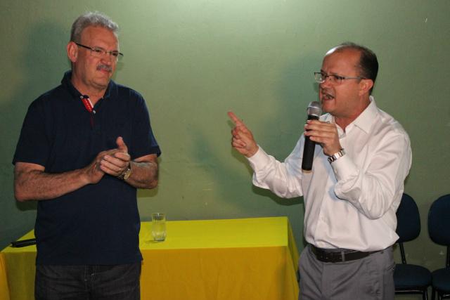 Barbosinha anuncia apoio à pré-candidatura de Geraldo Resende para a Prefeitura de Dourados. - Crédito: Foto: Divulgação
