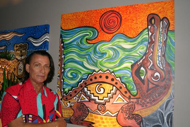 Jonier Benedicto de Figueiredo, nascido em Corumbá, é considerado o primeiro arte-educador de Mato Grosso do Sul, é autodidata. - Crédito: Foto: Elvio Lopes