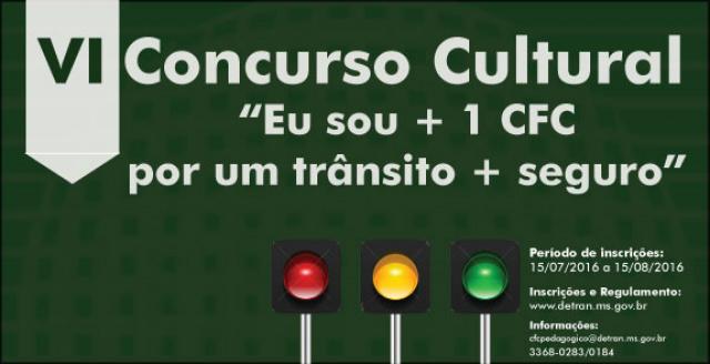 Detran abre inscrições para concurso cultural voltado aos CFC's - Crédito: Foto: Divulgação