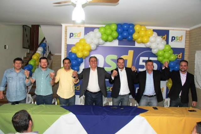 O Partido Social Democrático realizou um ato político na última segunda-feira em Campo Grande. - Crédito: Foto: Divulgação