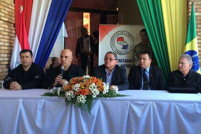 O ministro da Justiça, Alexandre de Moraes, ontem no Paraguai. - Crédito: Foto: Divulgação