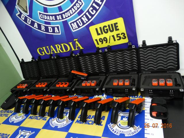 Guarda Municipal de Dourados recebe armas não letais e melhora ainda mais a sua. - Crédito: Foto: A. Frota/Assecon