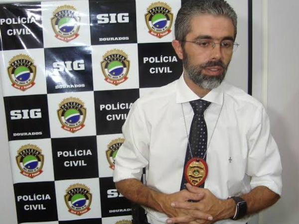 Delegado mateus Zampiere alerta para golpe do emprétimo virtual. Foto: Cido Costa/DouradosAgora -