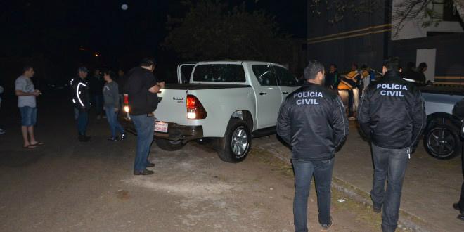 Garagista estava de carona em Hilux quando foi assassinada - Foto: Porã News -