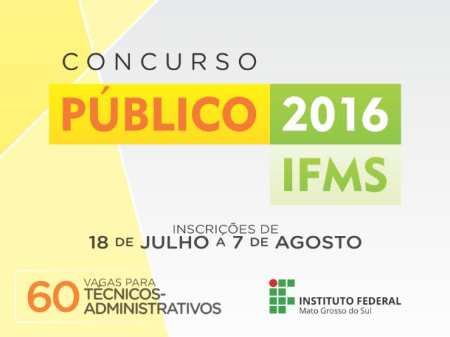 IFMS divulga lista de isentos em concurso para técnicos-administrativos -