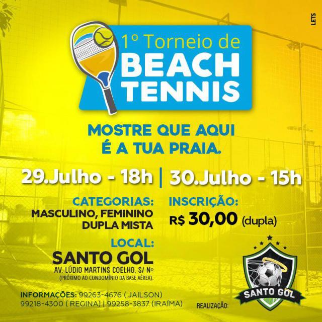 30 duplas disputam torneio de beach tennis neste fim de semana -