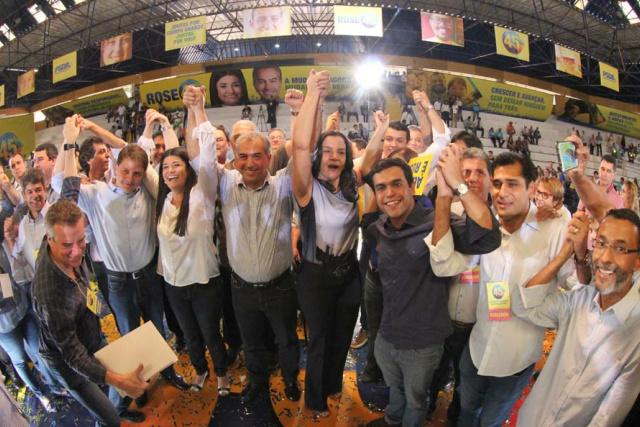 A convenção do PSDB foi realizada na manhã do último sábado, no ginásio do Rádio Clube. - Crédito: Foto: Divulgação