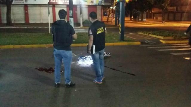 Motociclista foi atropelado duas vezes Foto: Cido Costa/Dourados Agora -