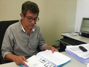Delegado apreendeu documentos falsos com suspeito - Crédito: Foto: Graziela Rezende/G1 MS