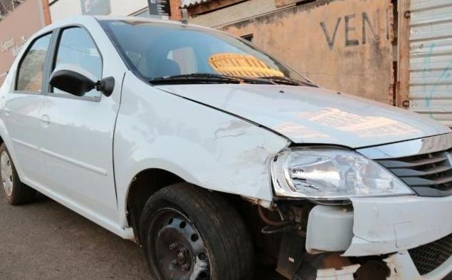 Carro usado pelo suspeito para atropelar vítimas é do Detran - Crédito: Foto: Marcos Ermínio/campograndenews