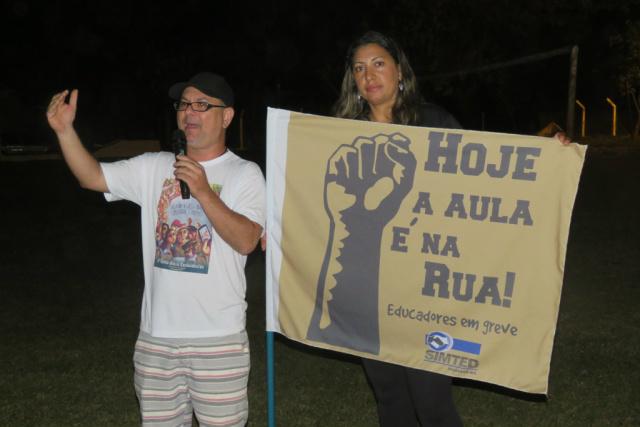 Atividades de greve, desta vez, foram realizadas no Parque das Nações II - Crédito: Foto: Divulgação SIMTED
