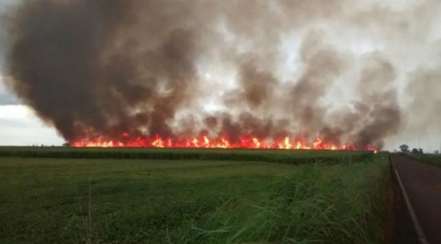 Os incêndios além de colocar em as edificações próximas aumentam as doenças respiratórias, - Crédito: Foto: Divulgação