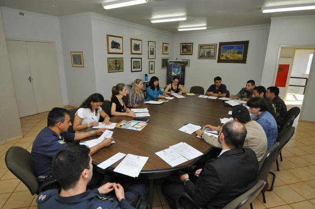 Reunião com os integrantes da Comissão Organizadora da Semana da Pátria com organismos militares. - Crédito: Foto: A. Frota