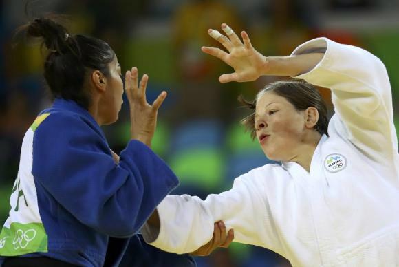 Mariana Silva perde semifinal para judoca da Eslovênia. - Crédito: Foto: Reuters/Kai Pfaffenbach/Direitos Reservados