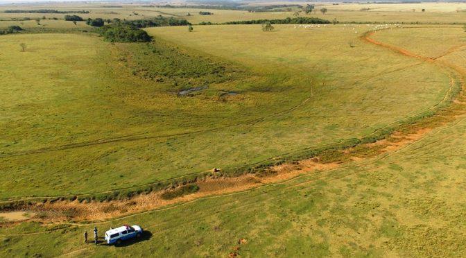 Foram encontradas erosões na área - Crédito: Divulgação