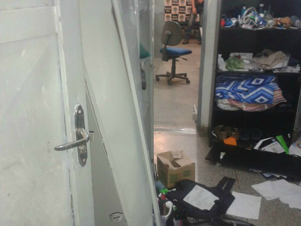 Os presos foram transferidos até a conclusão dos reparos - Crédito: Osvaldo Nóbrega/ TV Morena