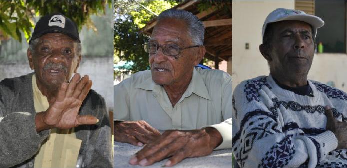 Osvaldo, Vicente e Roberto, são três pais que moram no Lar do Idoso - Crédito: Edio Fazan