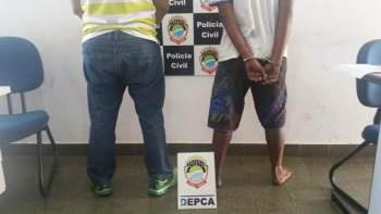 Os dois foram presos neste domingo - Crédito: Divulgação