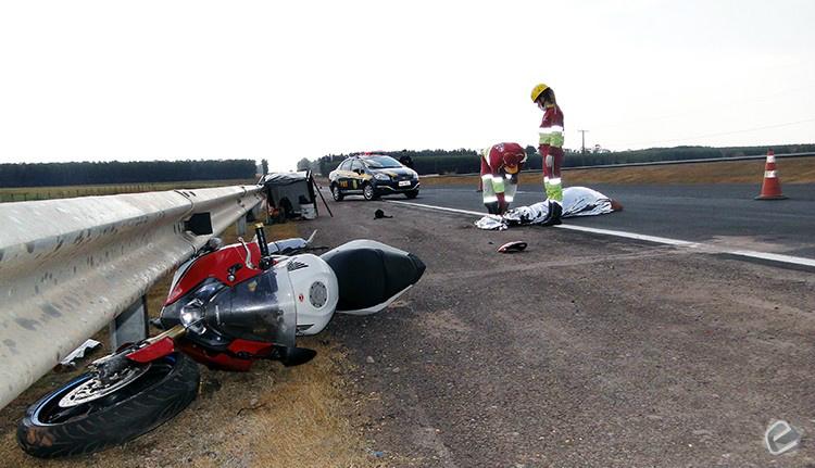 Motociclista morre ao sofrer queda na BR-163 - Crédito: Suzana Vanessa