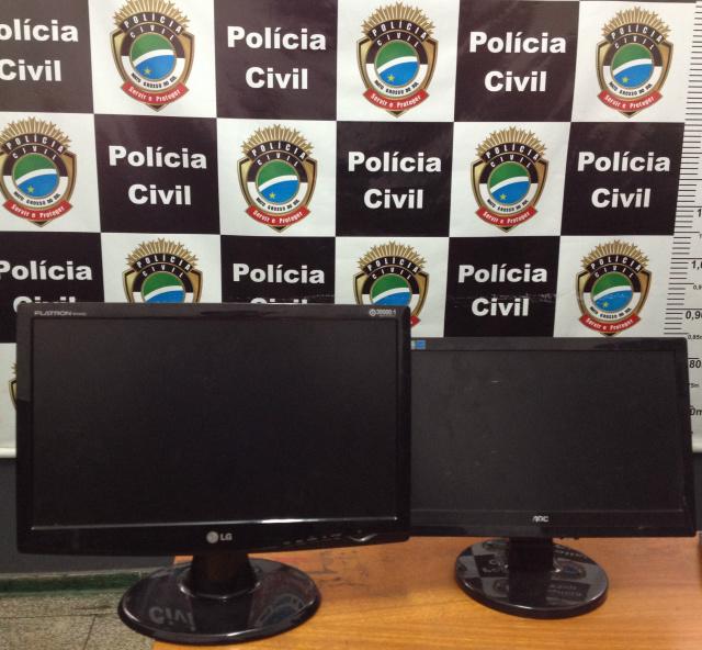 Os dois monitores foram recuperados - Crédito: Divulgação