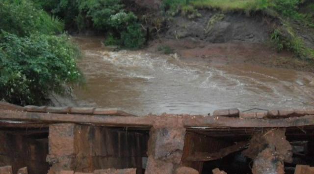 Ponte sobre o córrego Santa Tereza, localizada na MS-382. - Crédito: Foto: Divulgação