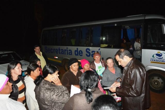 Mulheres do Assentamento Santo Antônio realizam exames no Paraná. - Crédito: Fotos: Roney Minella