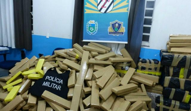 Nos primeiros sete meses deste ano, a Polícia Militar apreendeu 84,6 toneladas de drogas, -