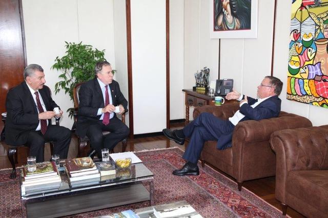 Secretário José Elias foi recebido pelo ministro Blairo Maggi na manhã desta quinta-feira, em Brasília - Crédito: Foto: divulgação