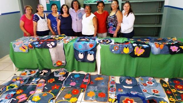 Produtos que são fruto dos cursos ministrados pela Assistência Social nas entidades participantes - Crédito: Foto: divulgação