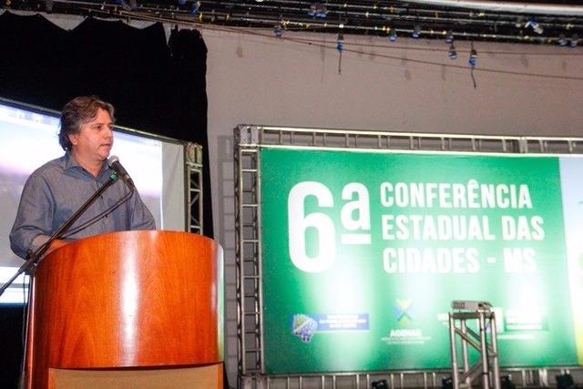 Caravina discursa na Conferência das Cidades Foto: Edson Ribeiro -