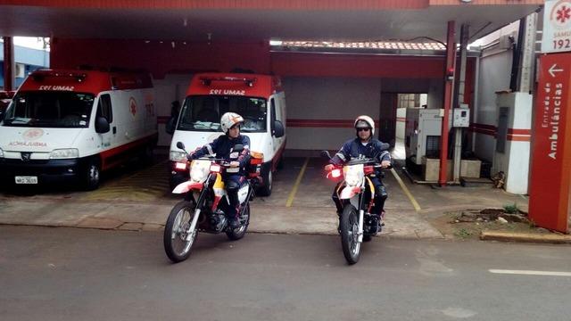 Dourados conta com motos para acelerar em até 30% os atendimento do SAMU - Crédito: Foto: Divulgação