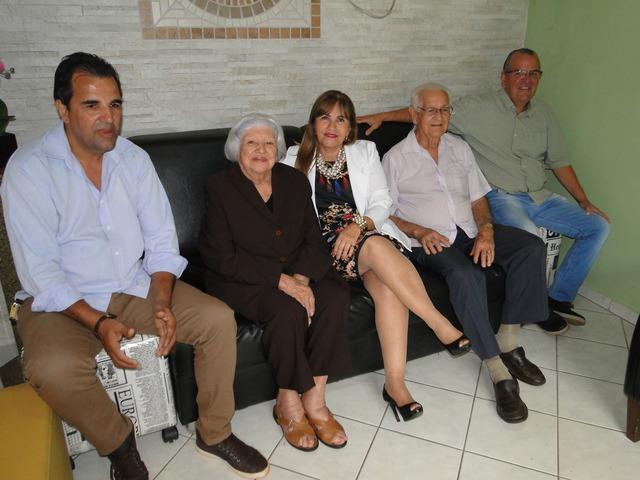 Rosemar Mattos, Neuza Amaral, a presidente da Amattos, Lurdinha Mattos, Alkindar Mattos e Beto Mattos . Foto Vinícios Araújo -