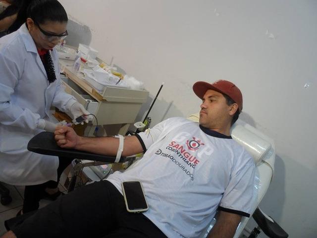 Doação de sangue da Fiel em ação passada Foto: Arquivo -