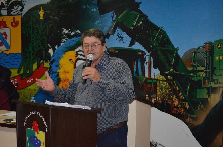 Prefeito Donato Lopes no plenário da Câmara de Vereadores -