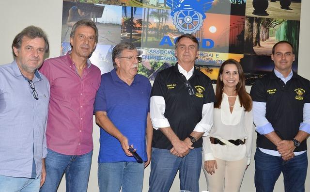 Domingos Ventorini, José Tarso Moro, Carlos Alberto Galvão, Jair Bolsonaro, Ely Oliveira e Eduardo Bolsonaro -