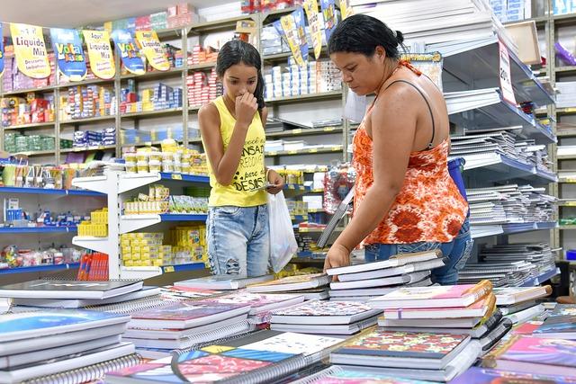 """Movimento nas papelarias aumenta com a reta final do """"Volta às aulas"""" - Crédito: Foto: Marcos Ribeiro"""