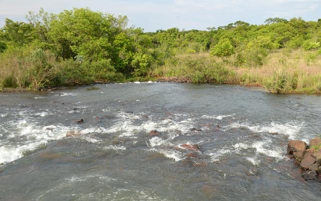 Represa de captação da bacia do Guariroba, que atende mais de 300 mil pessoas em Campo Grande - Foto: ANDERSON VIEGAS/G1   -