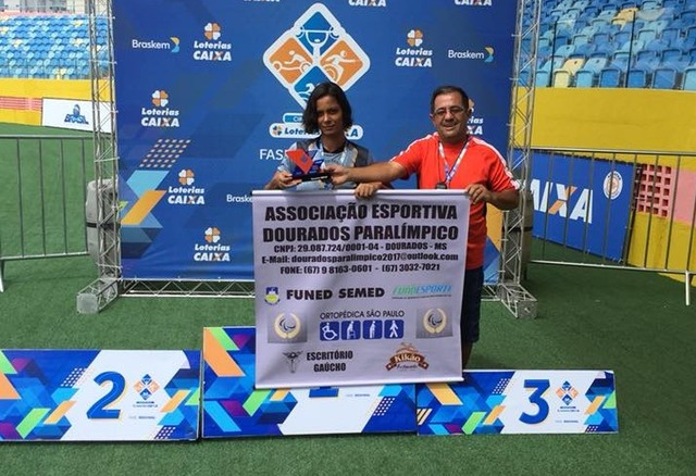 Dourados conquistou cinco índices para o nacional troféu para a melhor paratleta e o melhor técnico. - Crédito: Foto/ Divulgação