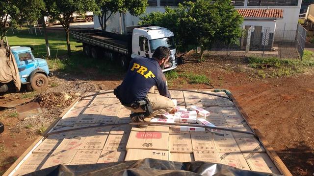 PRF tem apreendido grande quantidade de cigarros contrabandeados em  estradas de MS - Crédito  Divulgação 1bbf5234de0