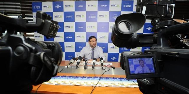 Sérgio Longen, presidente da Fiems, durante coletiva de lançamento do Maio – Mês da Indústria - Foto: divulgação -