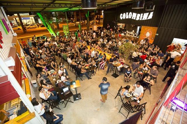 Um dos espaços do festival científico já realizados no País, que explica a ciência em bate-papos - Foto: divulgação -